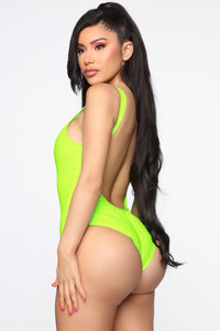 Summer Heat Latex Swimsuit - Lime