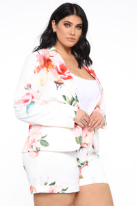 Grow And Flourish Blazer Set - White/combo