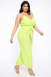 Avalon Jogger Jumpsuit - Lime