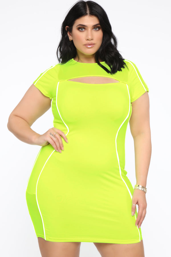 b0917a3e31 All About Being Bold Mini Dress - Neon Yellow