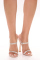Your Girl Rhinestone Heeled - Nude