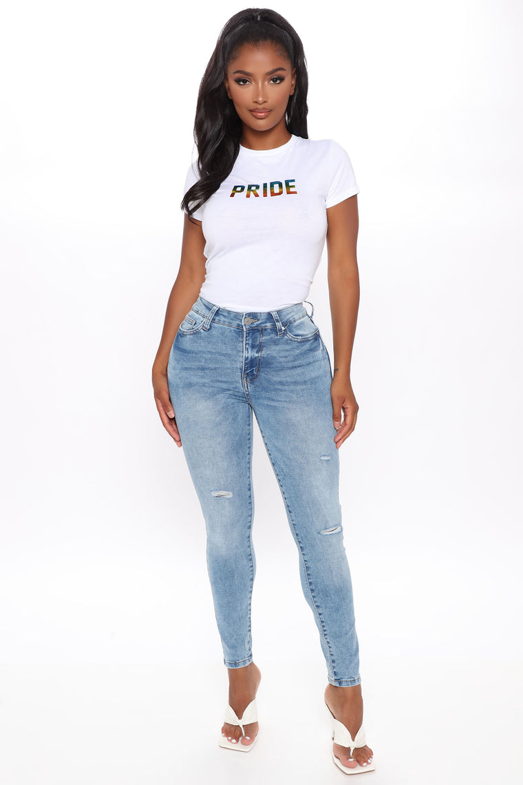 Too Much Pride Short Sleeve Top - White