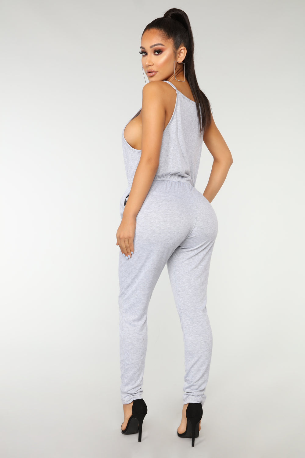 Hang Out Jumpsuit - Heather Grey