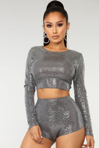 Glitter Guard Matching Set - Silver