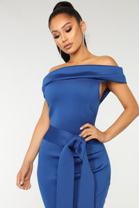 Love And Happiness Mini Dress - Royal