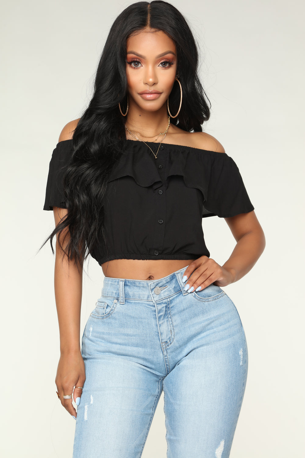 Forever Your Lady Top - Black