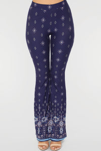 Strut My Stuff Flare Pants - Navy/Multi Angle 2