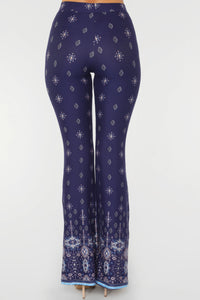 Strut My Stuff Flare Pants - Navy/Multi Angle 6