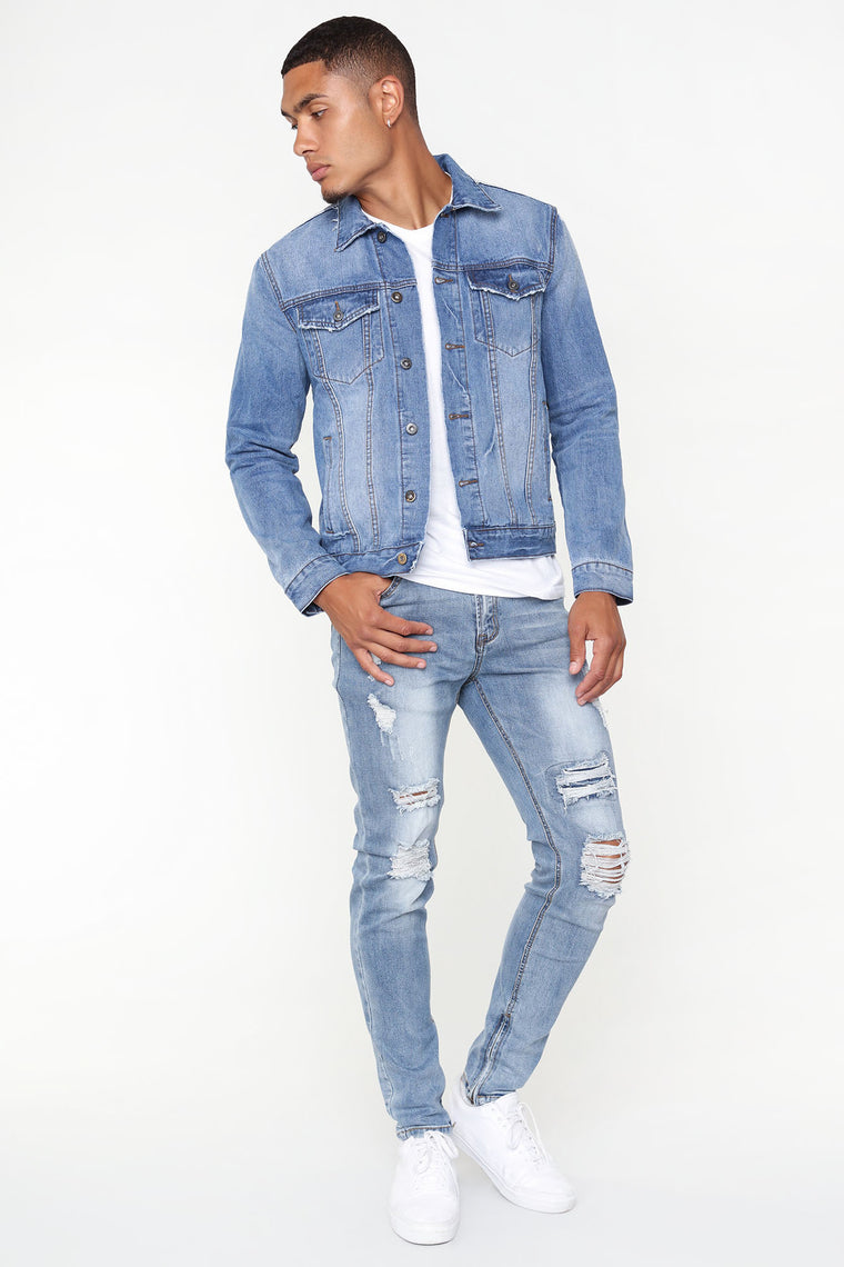 Wally Denim Jacket - Medium Wash