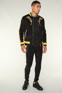 Monarch Track Jacket - Black/Gold Angle 5