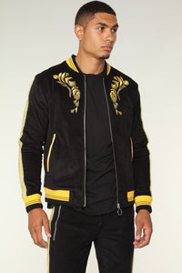 Monarch Track Jacket - Black/Gold Angle 1