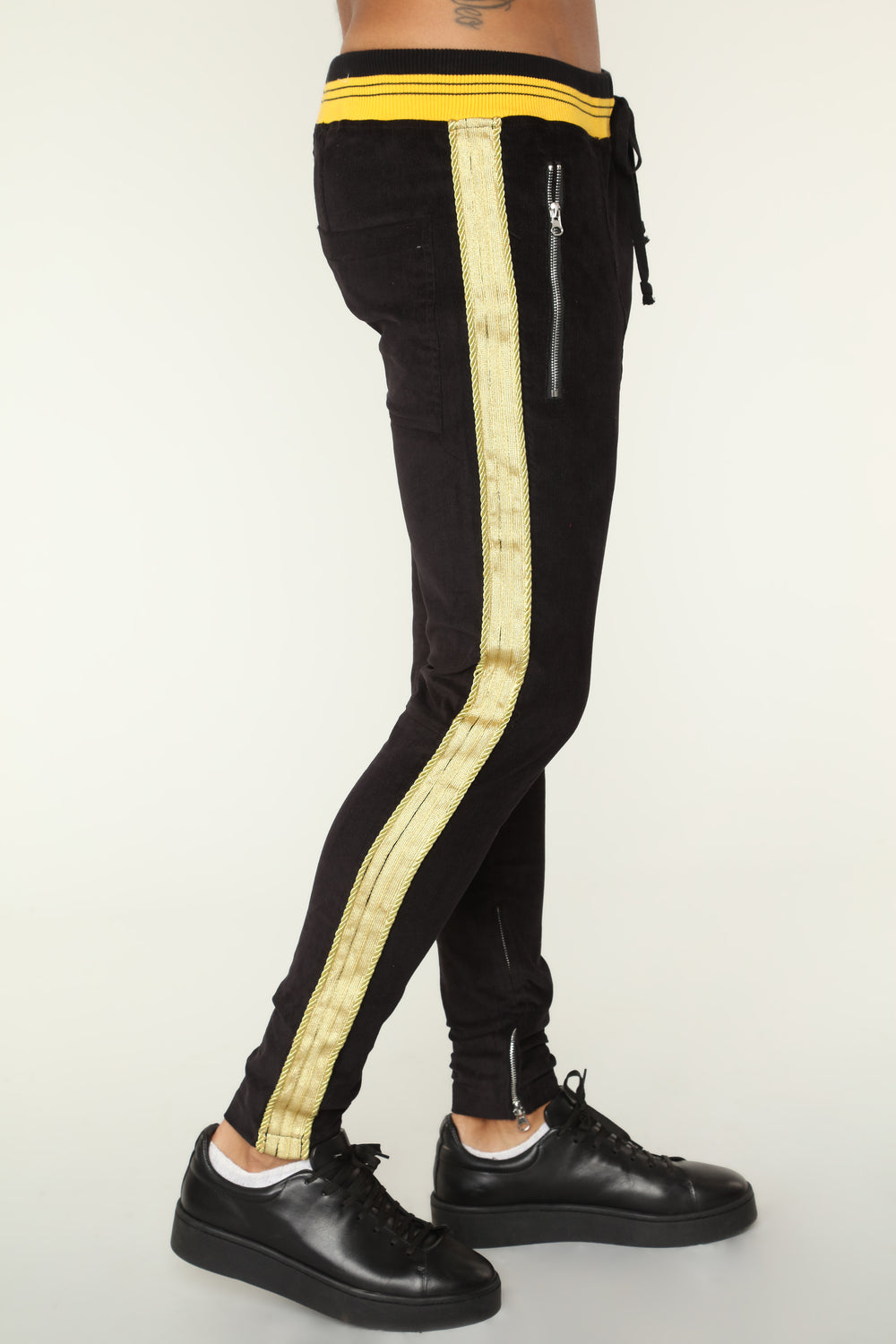 Monarch Track Pants - Black/Gold