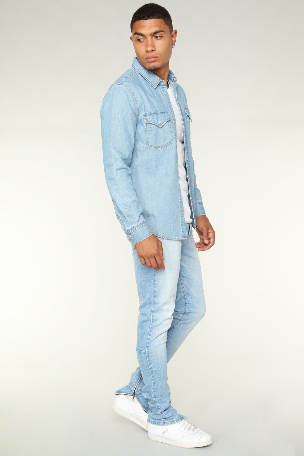 Arche Skinny Jeans - Light Blue Wash