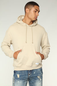 Lance Extended Hoodie - White