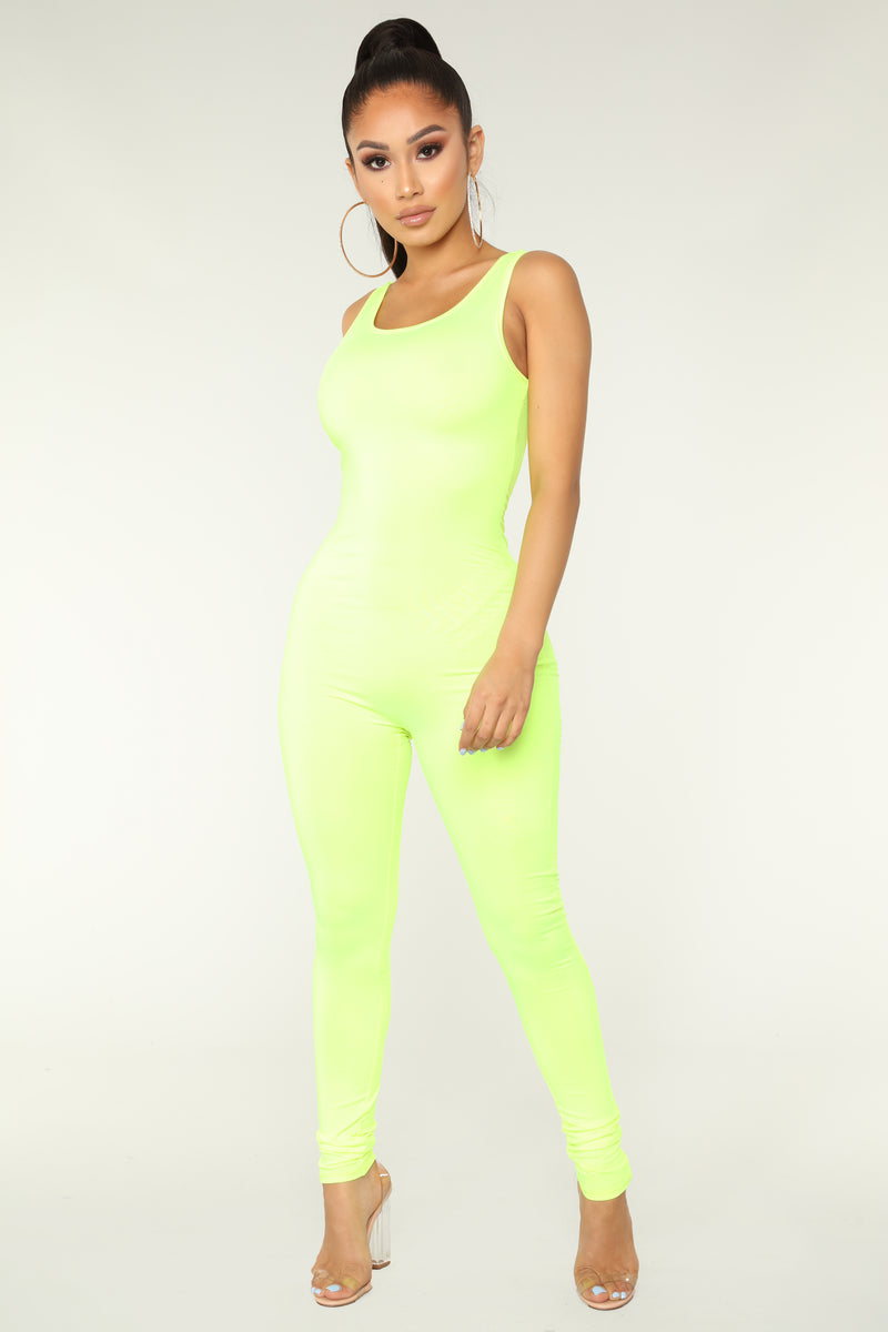 Nova Boost Jumpsuit - Neon Yellow