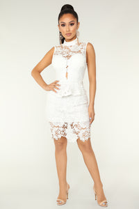 Layla Lace Dress - Ivory
