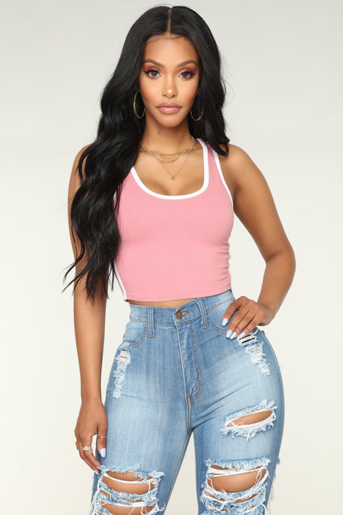 Sporty Girl Tank Top - Rose