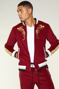 Monarch Track Jacket - Red/Gold