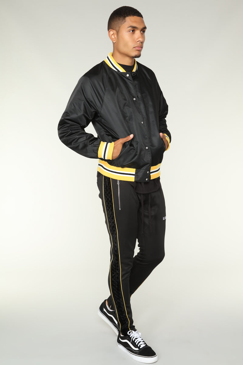 Torre Casual Jacket - Black/Yellow
