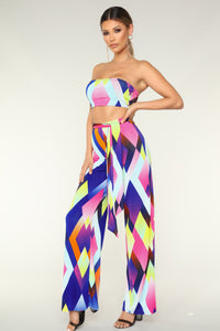 Blockin' You Pant Set - Multi