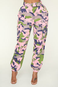 Determined Cargo Pants - Purple