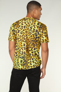 Cheetah Short Sleeve Tee - Black/Orange