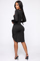Working It Cut Out Mini Dress - Black
