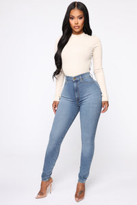 Flex Game Strong Super High Rise Skinny Jeans - Light Wash Angle 3