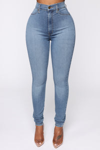 Flex Game Strong Super High Rise Skinny Jeans - Light Wash Angle 2