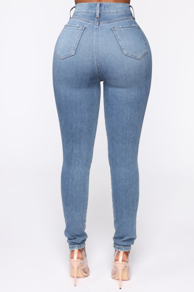 Flex Game Strong Super High Rise Skinny Jeans - Light Wash