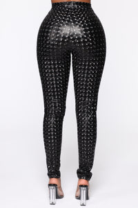Stand Out 3D Printed Pants - Black Angle 6