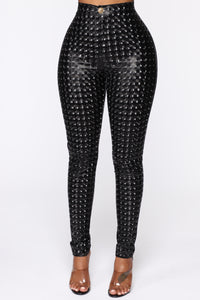 Stand Out 3D Printed Pants - Black Angle 1