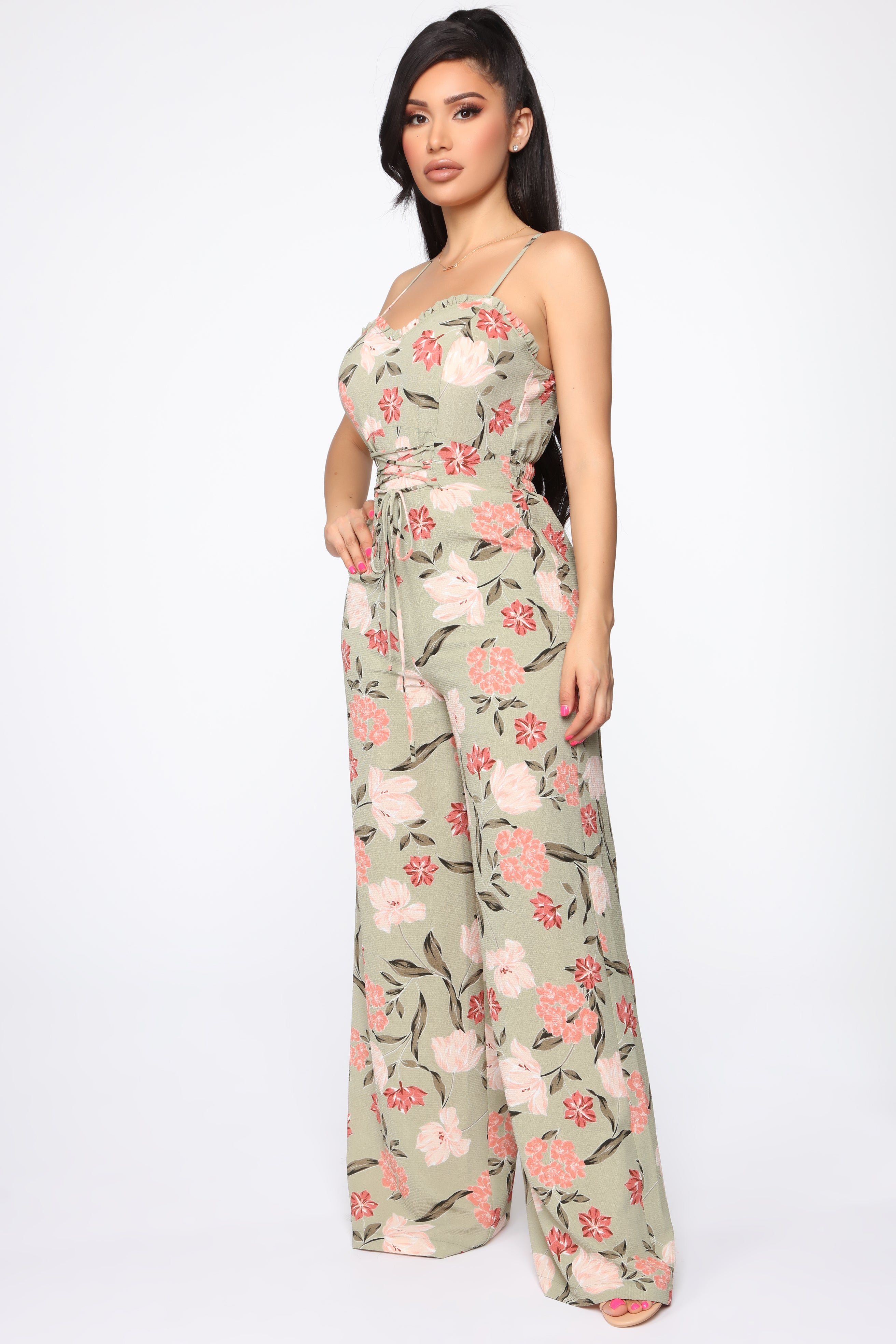 1c6a2cff03407 Shayna Floral Jumpsuit - Olive/Multi