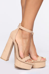 You're A Beautiful One Heeled Sandals - Nude