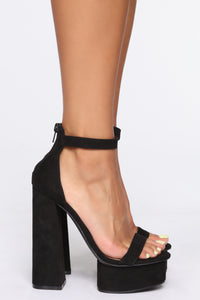 You're A Beautiful One Heeled Sandals - Black