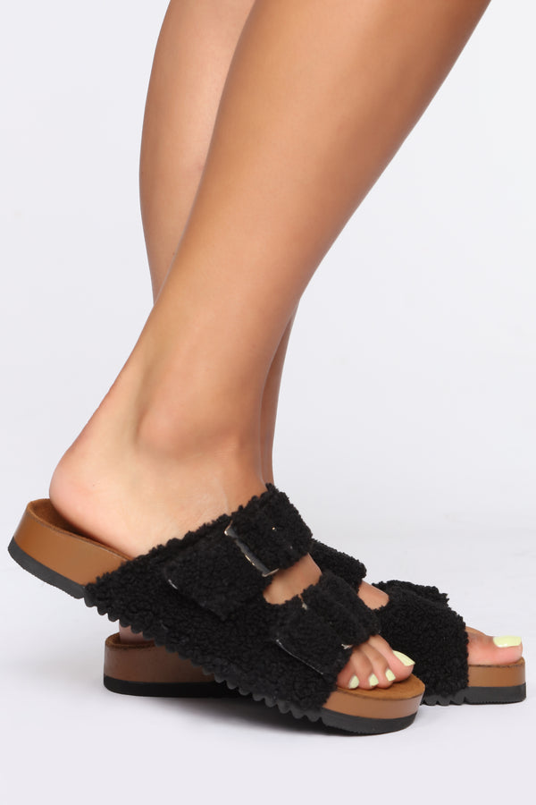 5402f481862 Are You Furreal Flat Sandals - Black