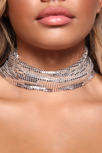 Bedroom Playtime Choker - Silver