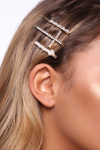 Such A Saint Hair Pin Set - Gold Angle 1