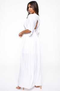 Having Some Good Days Maxi Dress - White