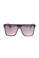 Looking Back Shield Sunglasses - Black