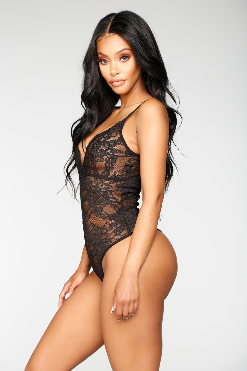 Night After Night Bodysuit - Black