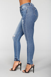 Tenderness Ankle Jeans - Medium Blue Wash