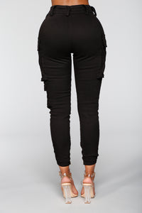 Kalley Cargo Pants - Black Angle 6