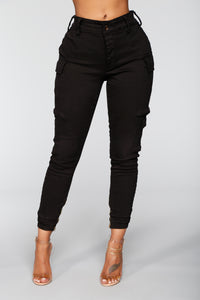 Kalley Cargo Pants - Black Angle 2