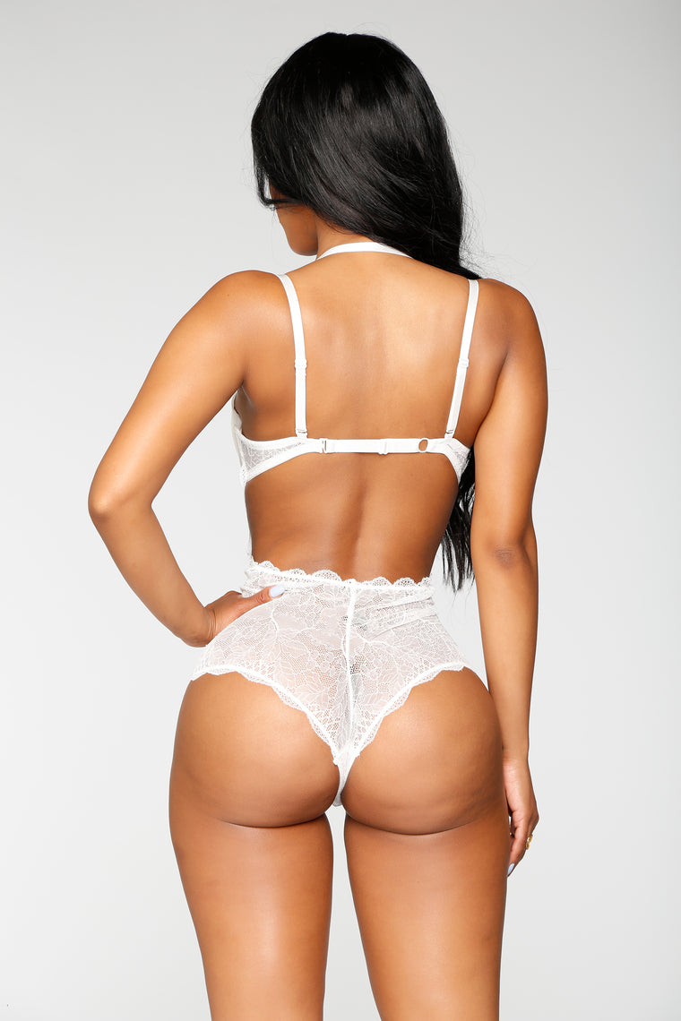Sexual Healing Lace Teddy - White