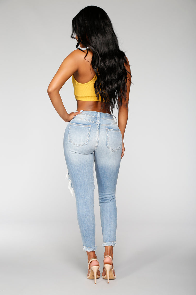 Cut Him Out Boyfriend Jeans - Vintage Wash