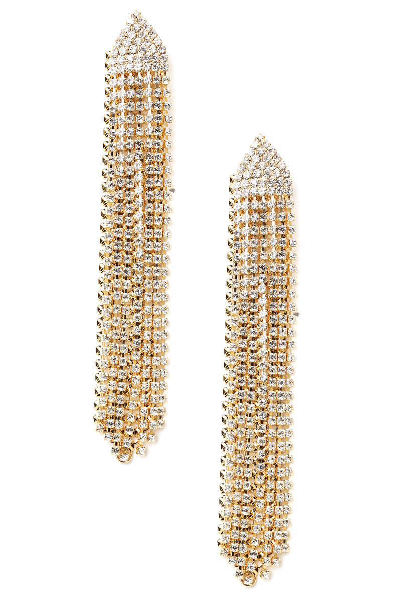 Don't Be Such A Tassel Earrings - Gold