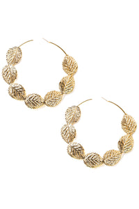Did you Leaf Him Yet Earrings - Gold