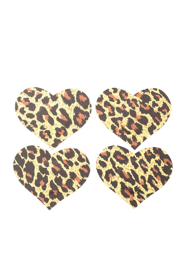 Sleek Feline Pasties - Leopard