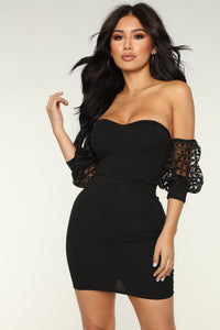 Luck Be A Lady Dress - Black